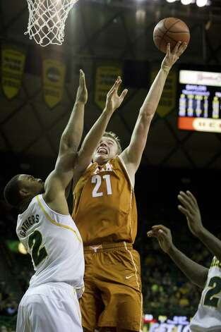 Hot: Texas F Connor Lammert — Erupted for a season-best 10 points against Texas Tech and is shooting 6-for-7 from the field in his last two games. Photo: Cooper Neill, Getty Images / 2013 Getty Images