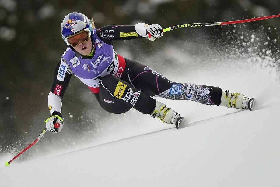 USA Lindsey Vonn competes during the women's Super-G event of the 2013 Ski World Championships in Schladming, Austria on February 5, 2013. Photo: FABRICE COFFRINI, AFP/Getty Images / 2013 AFP
