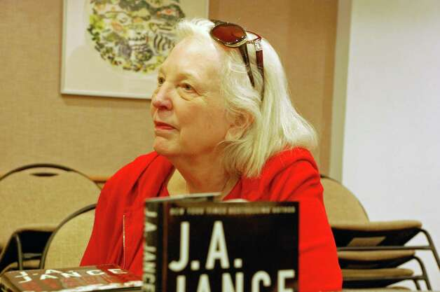 "Judith Ann Jance (a.k.a. J.A. Jance), best-selling author of 45 books, spoke at the New Canaan Library on Monday, Feb. 4. Jance began her book tour in New Canaan for her newest mystery novel, ""Deadly Stakes."" Photo: Contributed"