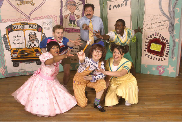 "The cast of a previous production of Theatreworks USA's ""Junie B. Jones"" musical plays out a scene. They are front row, from left, Keara Hailey, Mary Faber and Jill Abramovitz; second row, from left, Adam Overett, Michael McCoy and Darius Nichols. A new cast is set to shine in the latest production, which will be staged at the Westport (Conn.) Country Playhouse Sunday, Feb. 10, 2013. For more information on show times and tickets, call 203-227-4177 or visit http://www.westportplayhouse.org. Contributed photo/Carol Rosegg Photo: Contributed Photo"