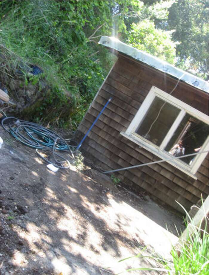 Listed at $1.35 million, this Los Gatos shack is bigger than it looks in this picture -- it's actually 1,400 square feet. You also get more than three acres, which probably explains the price.But the listing is full of creepy pictures at odd angles, and the address? 19366 Overlook Road. Welcome to The Overlook! All work and no play makes Jack a dull boy.