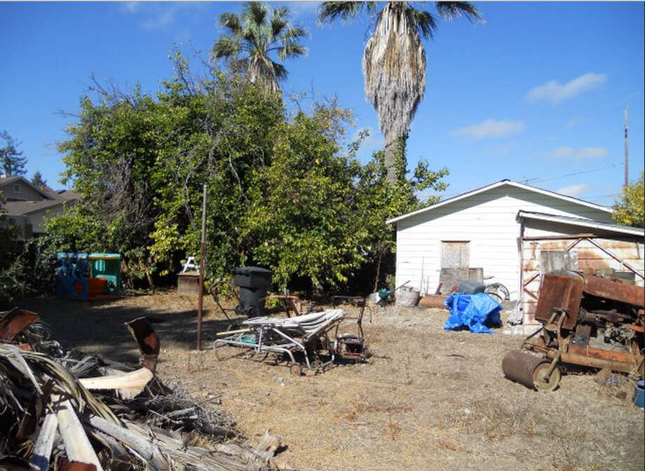This picture is actually of a shed in back of a normal-looking, though not impressive house in Sunnyvale. Still, $1.8 million for a 1,672-square-foot house, sold as is? There is an explanation: According to the listing, the lot is one mile from the planned new Apple headquarters.