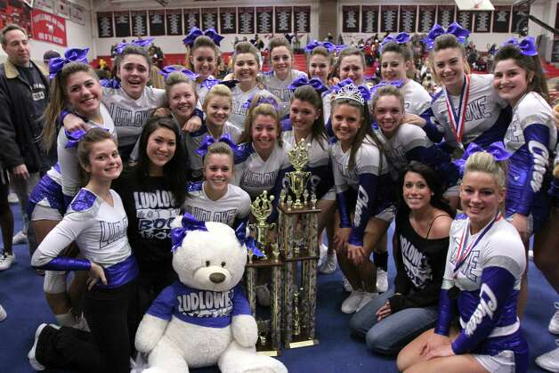 Fairfield Ludlowe's cheerleading team is this week's Fairfield Citizen athlete of the week. Photo: Contributed Photo