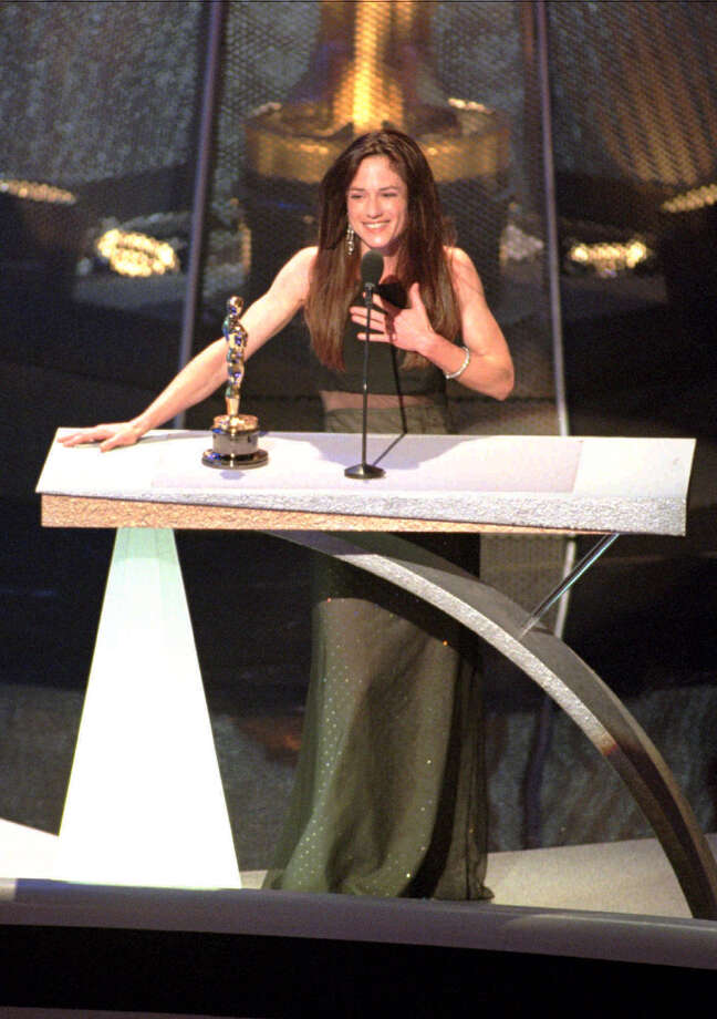 Holly Hunter accepts her Oscar for Best Actress for her performance in The Piano. Photo: Reed Saxon, Associated Press