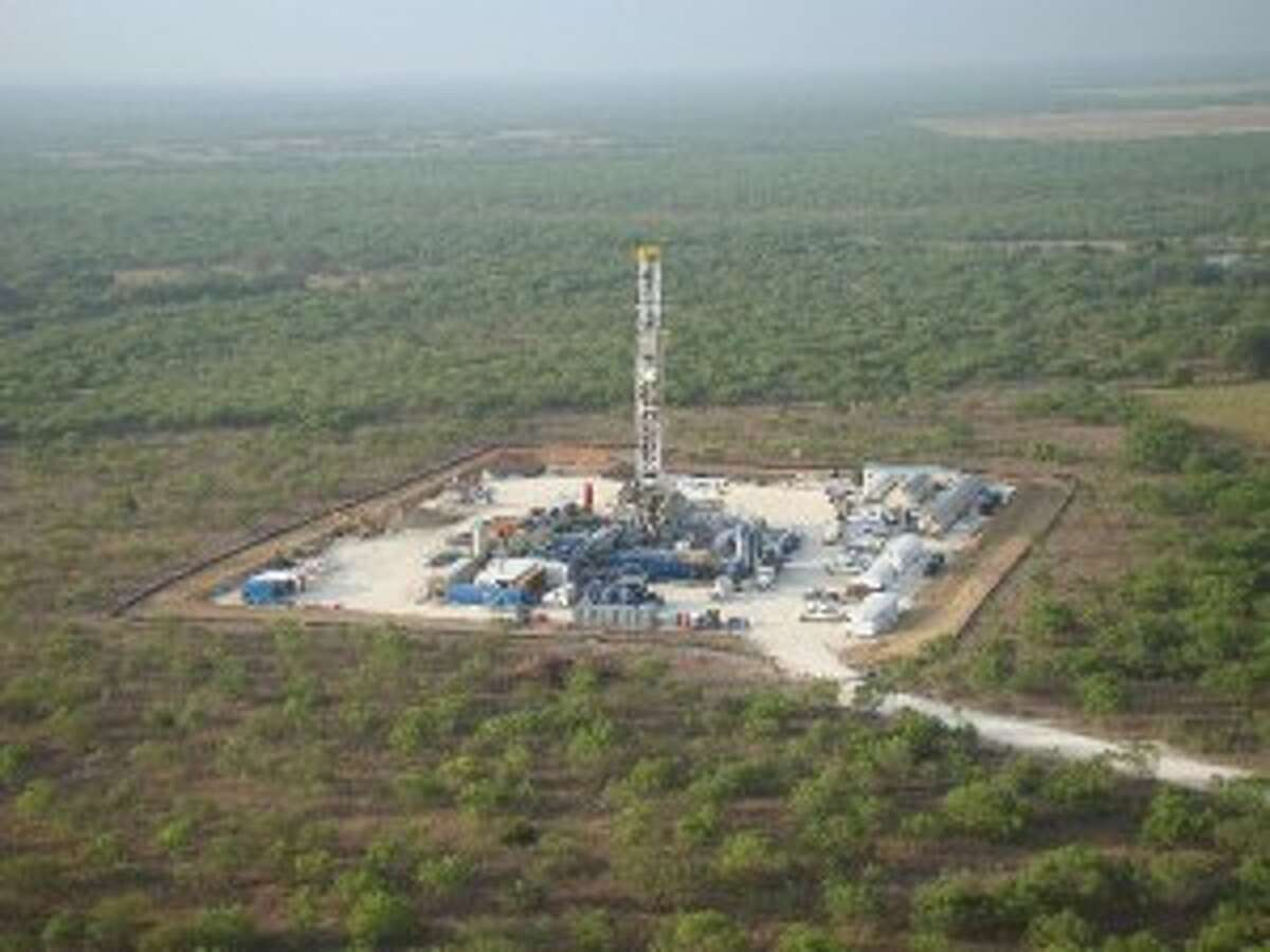 Here's an aerial view of a Marathon Oil drilling rig in the Eagle Ford. (Photo Courtesy Marathon Oil)
