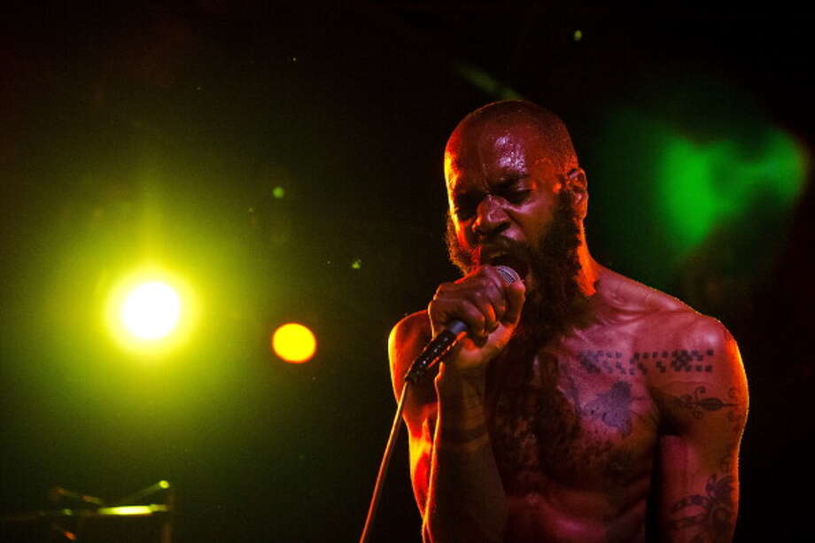 Death Grips, pictured at The Glass House on April 12, 2012 in Pomona, California. Photo: Daniel Boczarski, Getty Images / 2012 Daniel Boczarski