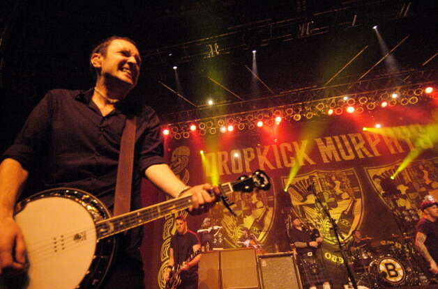 Dropkick Murphys, pictured at the Congress Theater on Feb. 27, 2011 in Chicago, Ill. (Photo by Paul Warner/WireImage) Photo: Paul Warner, Getty Images / 2011 Paul Warner