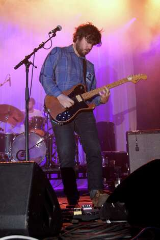 SUUNS, performs on stage at the Green Man Festival on Aug. 21, 2011 in Brecon, United Kingdom. (Photo by Ben Statham/Redferns) Photo: Ben Statham, Getty Images / 2011 Ben Statham