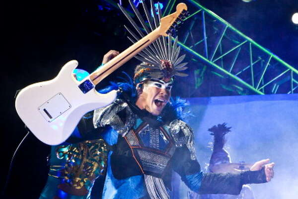 Empire Of The Sun, pictured at the 2011 Coachella Valley Music & Arts Festival  on April 16, 2011 in Indio, Calif. (Photo by Chelsea Lauren/WireImage)