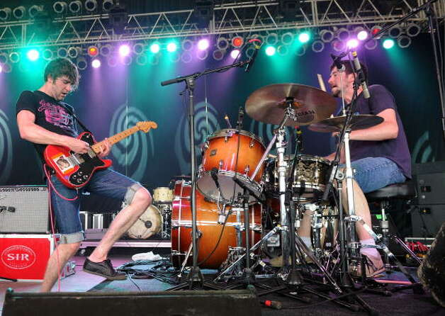 Japandroids, pictured onstage during Bonnaroo 2010 on June 13, 2010 in Manchester, Tenn.  (Photo by Jason Merritt/FilmMagic) Photo: Jason Merritt, Getty Images / 2010 FilmMagic