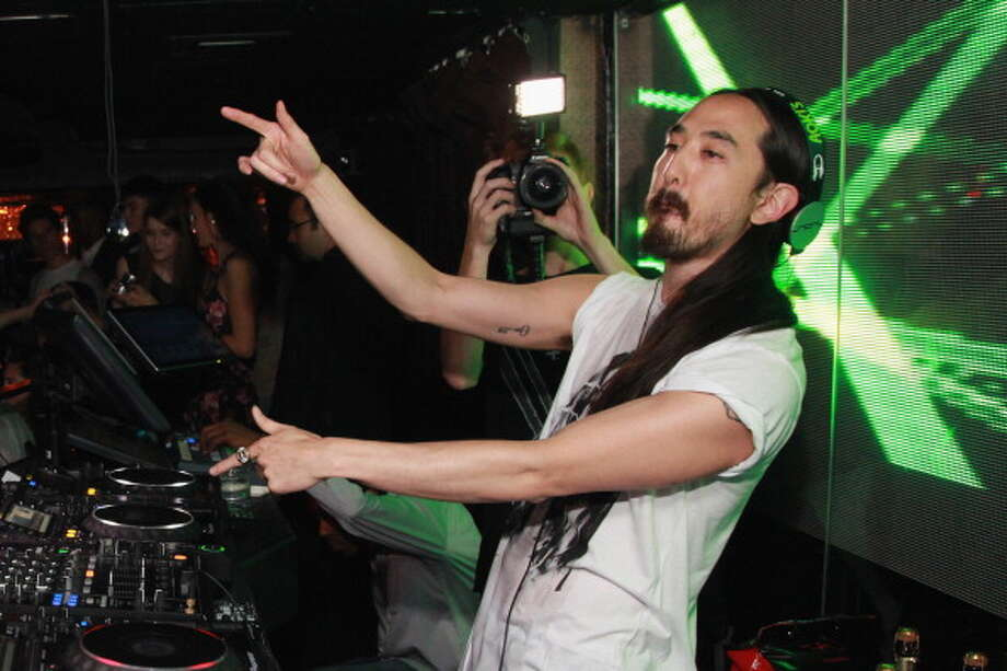 DJ Steve Aoki, pictured October 18, 2012 in New York City. Photo: Taylor Hill, Getty Images / 2012 Taylor Hill