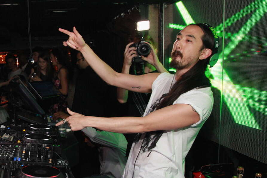 DJ Steve Aoki, pictured October 18, 2012 in New York City.