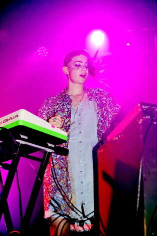 LONDON, ENGLAND - SEPTEMBER 06:  Grimes performs on stage at Heaven on September 6, 2012 in London, United Kingdom. Photo: Matt Kent, Getty Images / 2012 Matt Kent