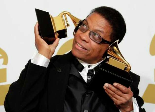 Herbie Hancock wins Album of the Year (2008): Amy Winehouse and Kanye West may have made the albums of their lives, but the Record Academy thought the Album of the Year belonged to jazz pianist Herbie Hancock's middling late career tribute to Joni Mitchell, River: The Joni Letters. Maybe it helped having hip, young guest vocalists like Tina Turner, Leonard Cohen and Norah Jones?