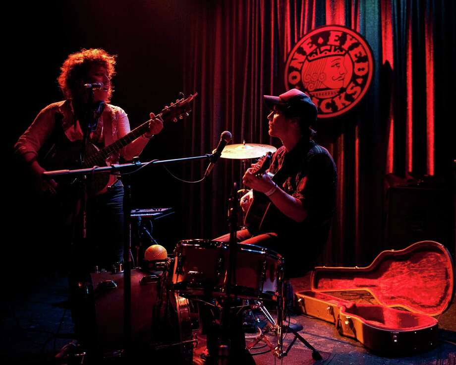 NEW ORLEANS, LA - AUGUST 15: (L-R): Country folk duo Cary Ann Hearst and Michael Trent of Shovels And Rope perform at One Eyed Jacks on August 15, 2012 in New Orleans, Louisiana. Photo: Erika Goldring, Getty Images / 2012 Erika Goldring
