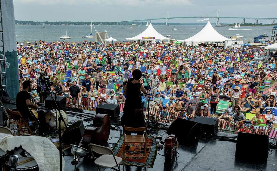 NEWPORT, RI - JULY 28:  MorganEve Swain and David Lamb of Brown Bird perform during the 2012 Newport Folk Festival at Fort Adams State Park on July 28, 2012 in Newport, Rhode Island. Photo: Douglas Mason, Getty Images / 2012 Douglas Mason