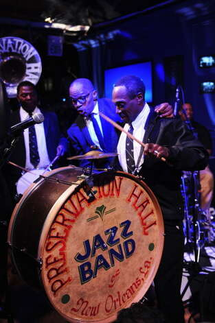 The New Orleans Preservation Hall Jazz Band, pictured on Feb. 2, 2013 in New Orleans, La. Photo: Jamie McCarthy, Getty Images / 2013 Getty Images