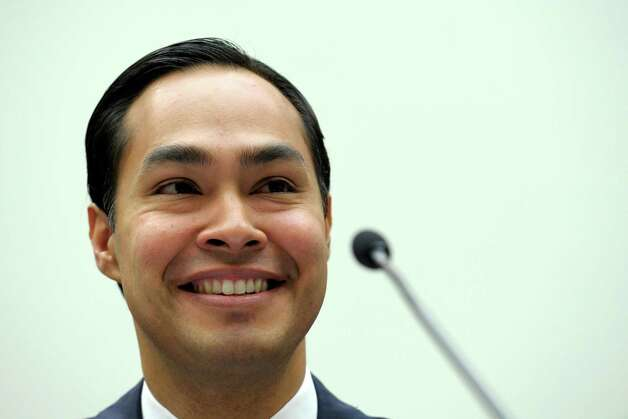 San Antonio, Texas Mayor Julian Castro testifies on Capitol Hill in Washington, Tuesday, Feb. 5, 2013, before the House Judiciary Committee hearing on America's Immigration System: Opportunities for Legal Immigration and Enforcement of Laws against Illegal Immigration.  (AP Photo/Susan Walsh) Photo: Susan Walsh, Associated Press / AP