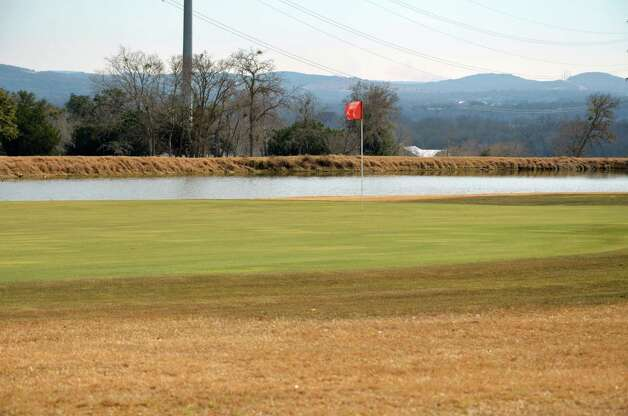 Water at the top of the hill and to the right of the green calls for an accurate approach on No. 6 at the Buckhorn in Comfort. Photo: LeAnna Kosub