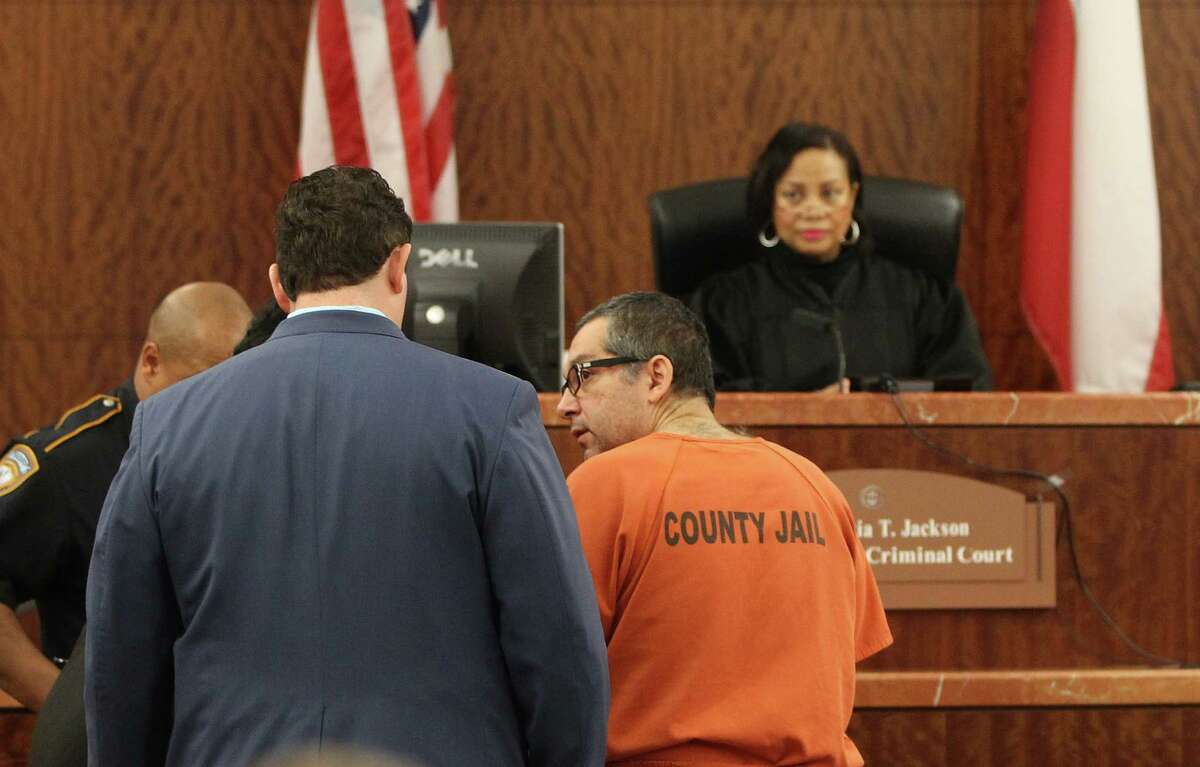 Anthony Chiofalo, a Houston lawyer who has been on the run since June when he was accused of stealing more than $9 million from his employer, stands in the 339th state District Court with his attorney, Paul Doyle, in front of Judge Maria T. Jackson, Monday, January 7, 2013, in Houston, after he turned himself in weeks ago at a Rhode Island police station. Chiofalo, 51, was a New York attorney with a suspended law license who moved to Houston in 2009. He took a job with Tadano America, a wholly owned subsidiary of a Japanese company that manufactures large cranes, court records show. He is accused of stealing from them using dummy law firms.