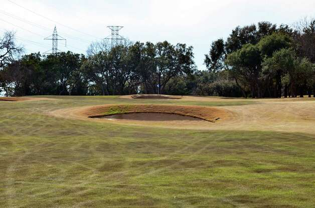 Bunkers can pose a problem on the approach to the No. 3 green at the Buckhorn in Comfort. Photo: LeAnna Kosub