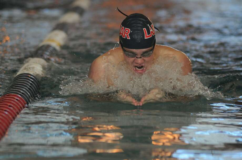 Lamar High School's Thomas Norman, a senior, swims his heat of the Boys 200 Yard Individual Medley during the 2013 District 20-5A Swimming and Diving Championships at Lamar High School. Freelance photo by Jerry Baker Photo: Jerry Baker, Freelance