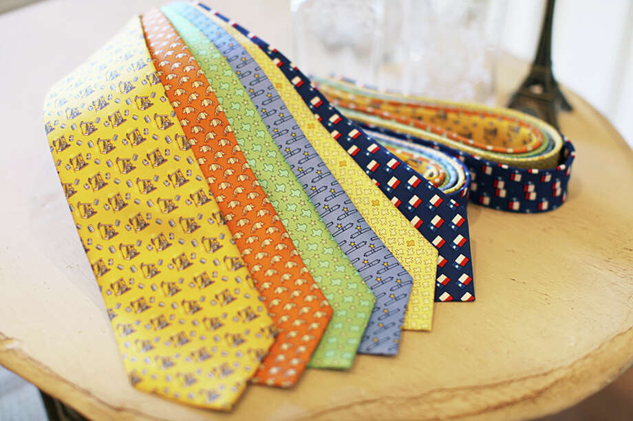 Designer silk tie: $150, Saks Fifth Avenue, up 3.5 percent Photo: Paris Texas Apparel Co., .