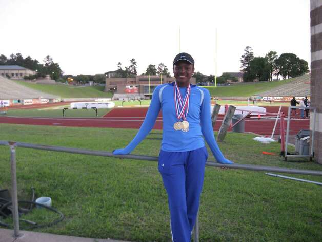 Ozen sophomore Bealoved Brown won two invidivual events, the 100- and 200-meter dash, and was a part of the winning 400 relay team at Tuesday's regional meet. (David Henry) Photo: David Henry