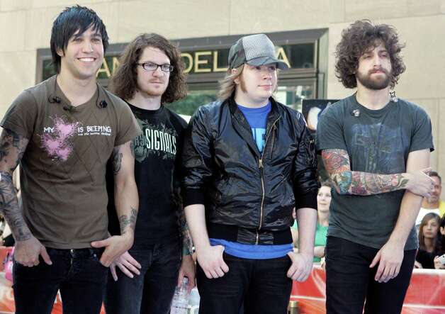 Fall Out Boy band members Pete Wentz, from left, Andy Hurley, Patrick Stump and Joe Trohman will appear at All-Star Saturday Night. Photo: RICHARD DREW, STF / AP