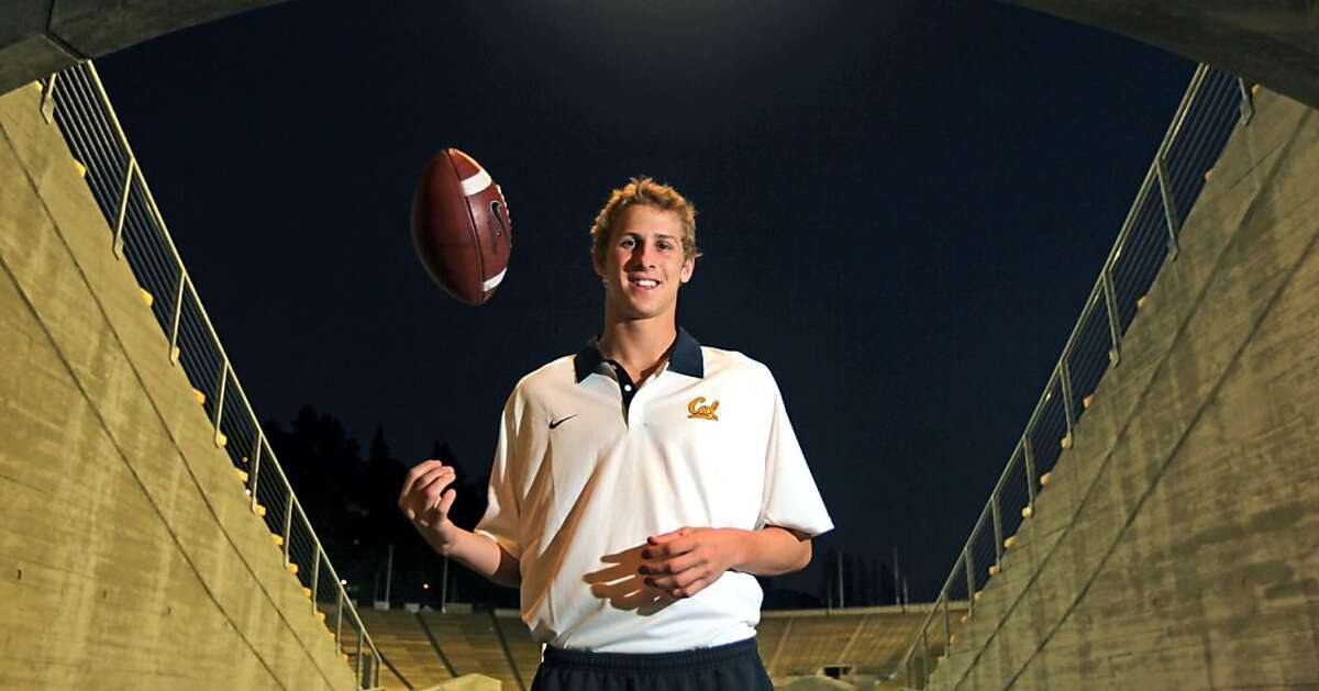 Cal quarterback Jared Goff, visits Memorial Stadium were he hopes to play some day Friday, Feb. 1, 2013 in Berkeley California. Goff has enrolled early at Cal when as most seniors in high school are finishing up, he has elected to get a jump-start on his college education and football career.