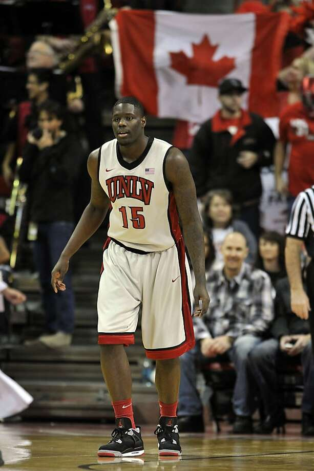LAS VEGAS, NV - JANUARY 12: Anthony Bennett #15 of the UNLV Rebels posts up down low against the Air Force Falcons at Thomas & Mack Center on January 12, 2013 in Las Vegas, Nevada. The Rebels won 76-71.  (Photo by Jeff Bottari/Getty Images) Photo: Jeff Bottari, Getty Images