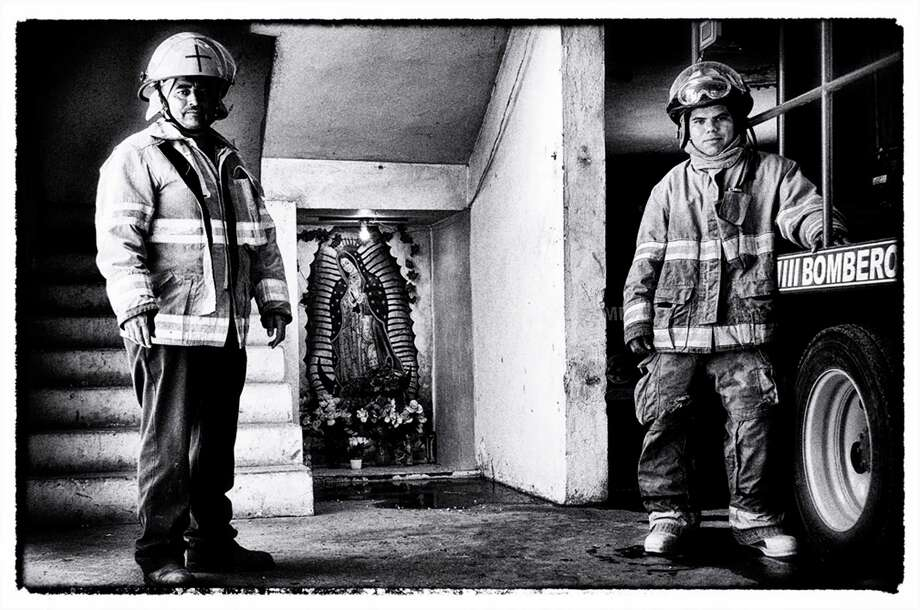 Luisa Wheeler photographed these firefighters, who are father and son, at a station in Piedras Negras, Coahuila, Mexico. Photo: Courtesy Luisa Wheeler