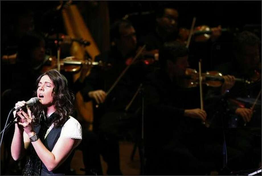 Brandi Carlile, Tahoma, 2000:Shown here at Benaroya Hall, Carlile grew up in Ravensdale. Many people think she went to school in Seattle, but was best known for early shows in the Queen City. (Brad Vest/seattlepi.com file)
