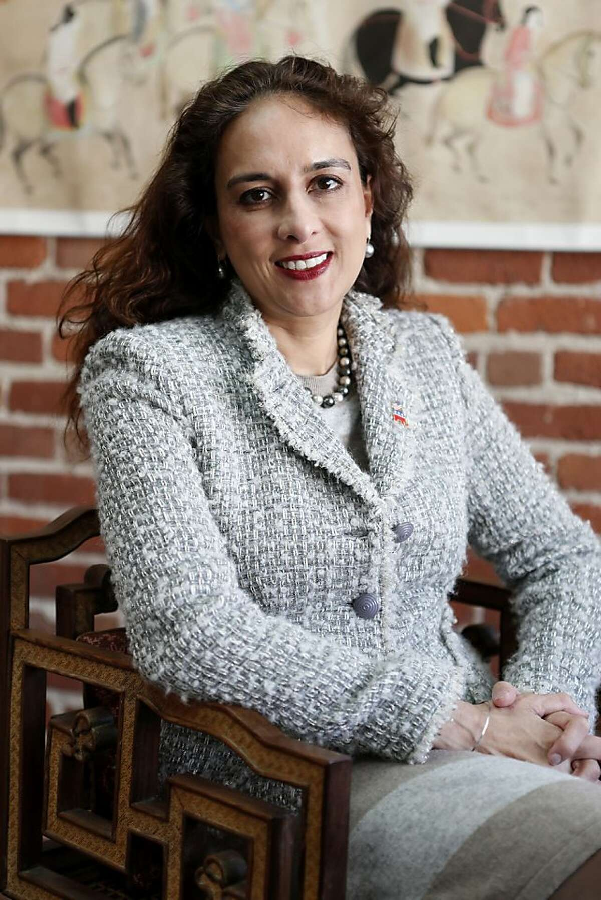 Harmeet Dhillon, attorney and candidate for California's Republican Party vice chairman, poses in her office on Tuesday, February 5, 2013 in San Francisco, Calif.