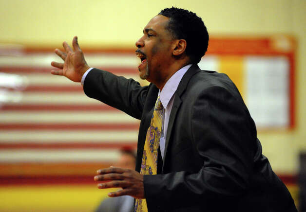 St. Joseph Head Coach Chris Watts, during boys basketball action against Norwalk in Trumbull, Conn. on Tuesday February 2, 2013. Photo: Christian Abraham / Connecticut Post