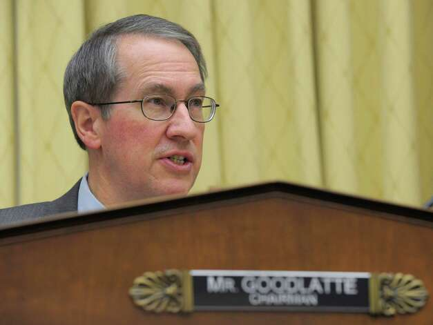 House Judiciary Committee Chairman Rep. Bob Goodlatte, R-Va., gives his opening remarks on Capitol Hill in Washington, Tuesday, Feb. 5, 2013, prior to the committee's hearing on America's Immigration System: Opportunities for Legal Immigration and Enforcement of Laws against Illegal Immigration.  (AP Photo/Susan Walsh) Photo: Susan Walsh