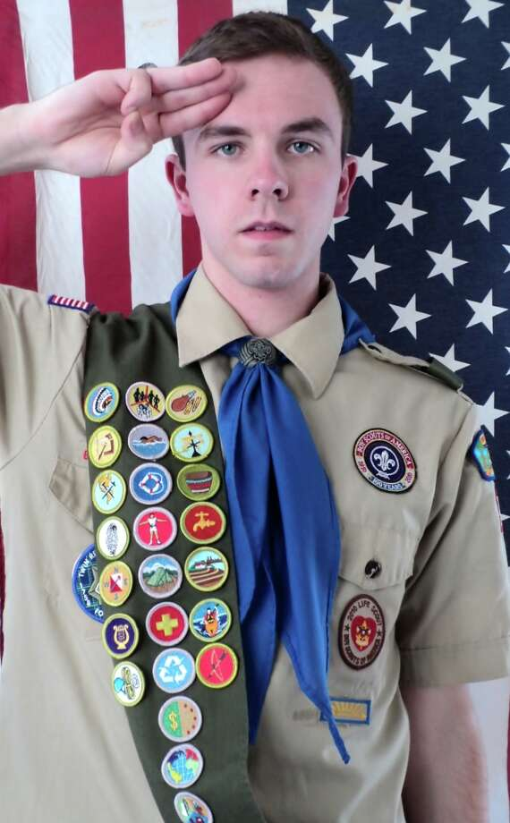 South Colonie High School senior Kyle J. Cogan recently earned the rank of Eagle Scout in the Boy Scouts of America. The honor was awarded during a ceremony at Troop 1022's sponsoring organization, Christ Our Light Catholic Church in Loudonville. Kyle's project was a courtyard renovation of his former elementary school, Shaker Road Elementary.  (Submitted photo)