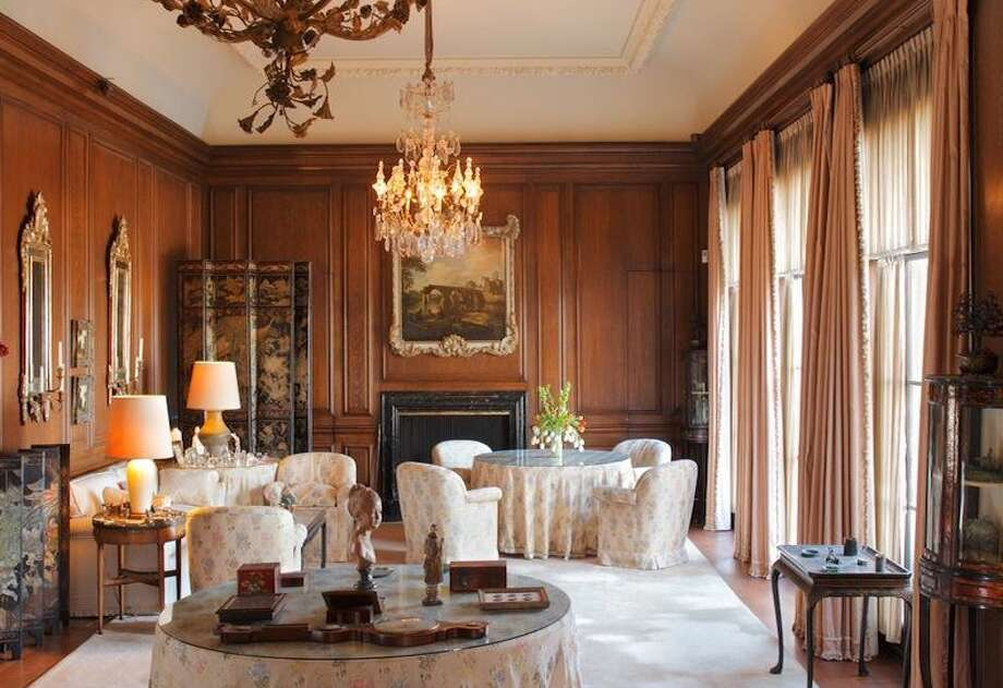 Classic wood paneled room that's found in every grand mansion