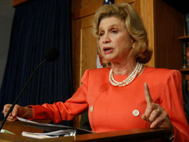 Rep. Carolyn Maloney, D-N.Y., the sponsor of the anti-gun trafficking bill. (AP photo) Photo: Harry Hamburg