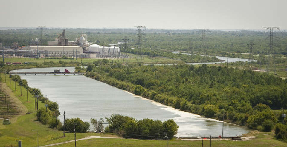 Cedar Bayou Power Plant uses a six and a half mile cooling canal to move purified water, taken from