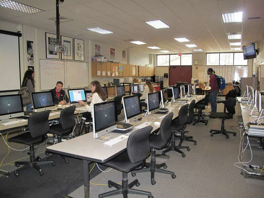 One of several New Canaan High School classrooms lined with rows of computers. Feb. 1, 2013, New Canaan, Conn. Photo: Tyler Woods