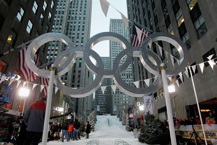To celebrate today being one year from the opening of the winter games in Sochi, NBC built a ski hill in New York City for the TODAY Show. Photo: Mike Stobe / 2013 Getty Images