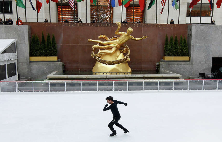 Team USA 2014 Olympic figure skating hopeful Evan Lysacek performs during the Today Show One Year Out To Sochi 2014 Winter Olympics celebration at NBC's TODAY Show on February 6, 2013 in New York City. Photo: Mike Stobe / 2013 Getty Images