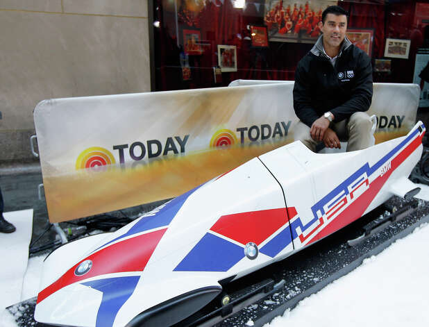 Team USA 2014 Olympic bobsledding hopeful Chuck Berkeley looks on during the Today Show One Year Out To Sochi 2014 Winter Olympics celebration at NBC's TODAY Show on February 6, 2013 in New York City. Photo: Mike Stobe / 2013 Getty Images