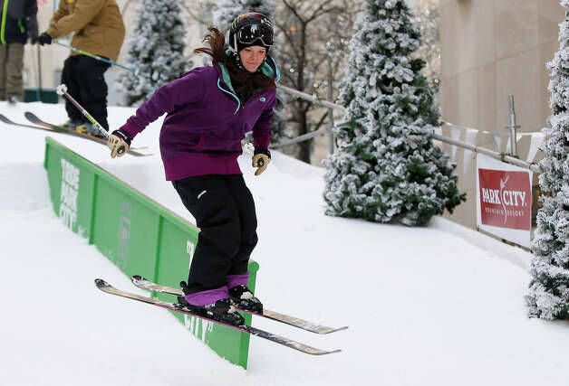Team USA 2014 Olympic hopeful Keri Herman demonstrated slopestyle skiing during the Today Show One Year Out To Sochi 2014 Winter Olympics celebration at NBC's TODAY Show on February 6, 2013 in New York City. Photo: Mike Stobe / 2013 Getty Images