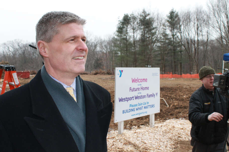 Iain Bruce, past president of the Y Board of Directors and current Second Vice President, at the start of our long-awaited groundbreaking ceremony