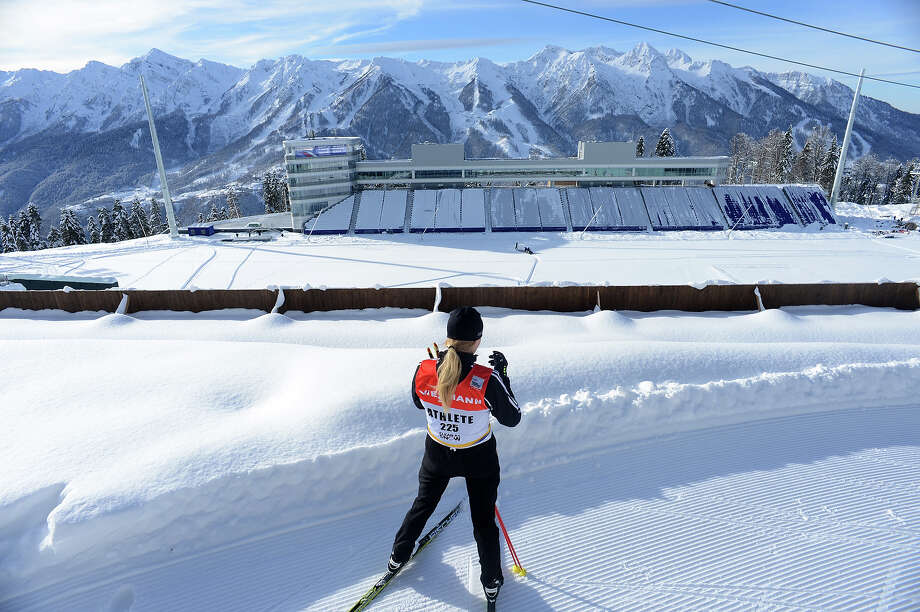A general view of the shooting range of the Laura Cross Country and Biathlon Center in Russian Black Sea resort of Sochi on February 3, 2013. Photo: KIRILL KUDRYAVTSEV, AFP/Getty Images / 2013 AFP