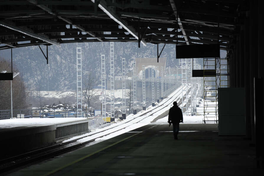 A picture taken on January 24, 2013, shows an inside view of the new railway station