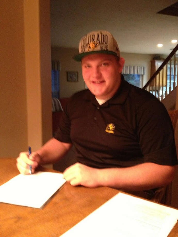 Jonathan signs with The University of Colorado at Boulder