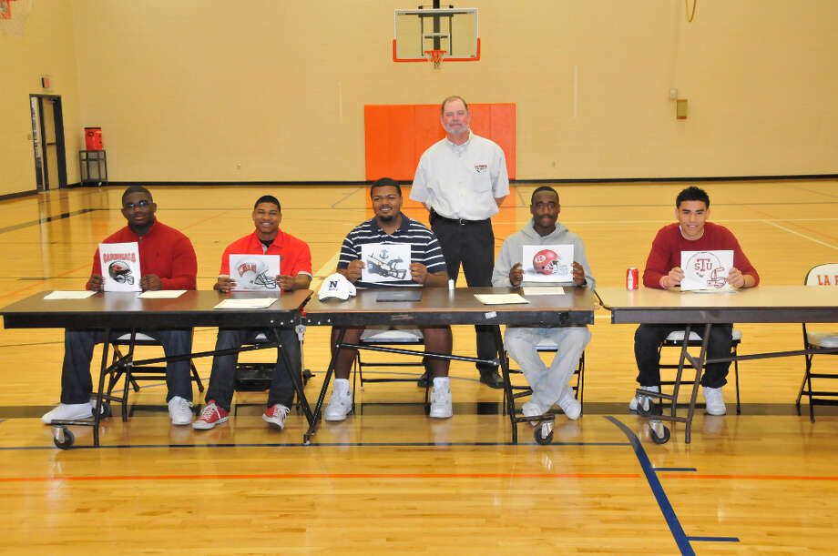 (Left to Right)Cory Lee-Incarnate WordKeith Whitely-UNLVMaurice Morris-NavyJahvey Marks-Henderson StateEric Medina- Texas Southern